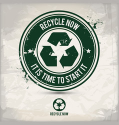 alternative recycling emblem stamp vector image