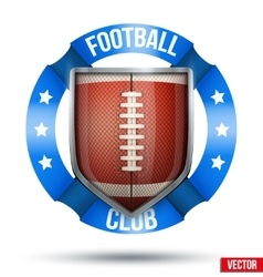 American Football Label vector image