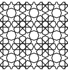 Arabesque pattern seamless traditional vector image