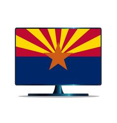 Arizona flag tv vector