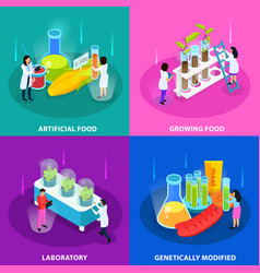 artificial foods isometric design concept vector image