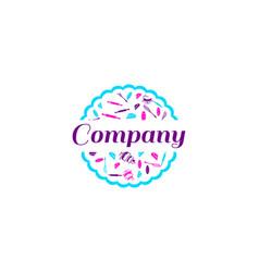 bakery shop logo template vector image