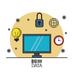 big data technology vector image