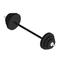 black barbell isometric view sport fitness center vector image