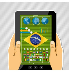 Brazil soccer championship tablet infographic vector image
