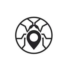 bug pest location logo vector image