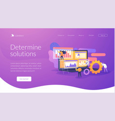 Business analysis landing page concept vector