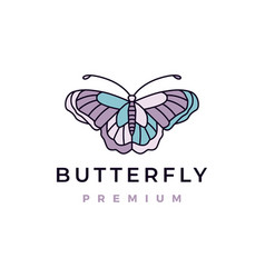 butterfly logo icon vector image