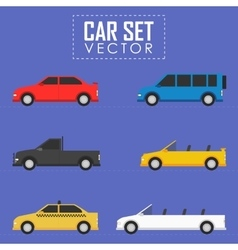Car set vector image