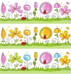 cartoon summer nature scene vector image