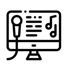 computer screen internet online karaoke vector image