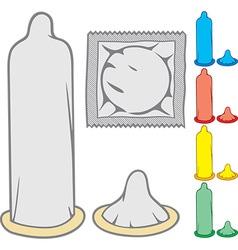 Condom Icon Set vector image