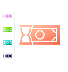 Coral fast payments icon isolated on white vector