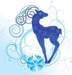 curves deer vector image