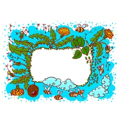cute landscape summer vector image