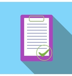 Document is ready icon flat style vector image