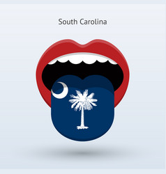 electoral vote of south carolina abstract mouth vector image