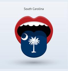 electoral vote south carolina abstract mouth vector image