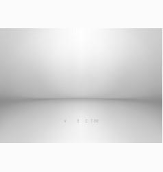 empty white studio backdrop eps 10 vector image