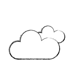 Figure clouds to naural weather icon vector