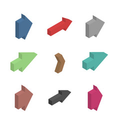 Flat arrows isometric vector