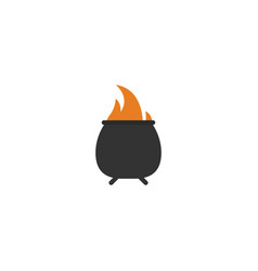 flat icon fire element of vector image