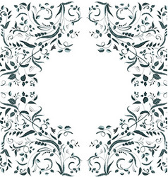 floral swirl border for your design vector image