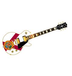 florida flag guitar vector image