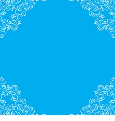frame with white floral lace border vector image