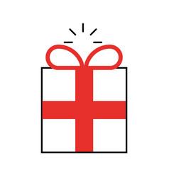 Gift box present icon vector