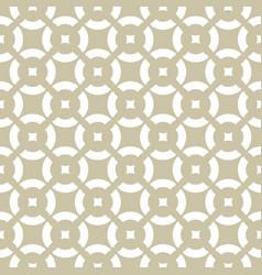 Golden ornamental pattern subtle white and beige vector