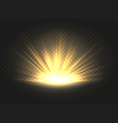 golden ray radiance vector image