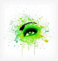 Grunge abstraction green make-up vector