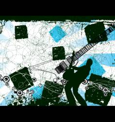 Grunge rocker vector