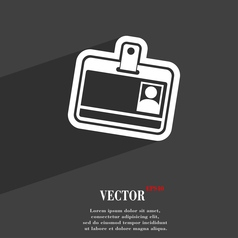 Id card icon symbol Flat modern web design with vector image
