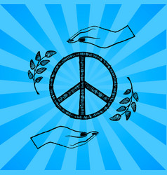 international peace day blue vector image