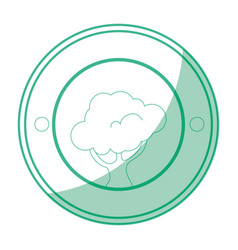 Isolated tree round icon vector