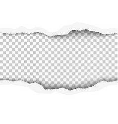 lacerated hole in middle of white paper vector image