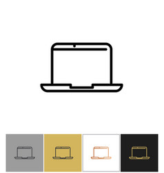 laptop icon professional notebook computer symbol vector image