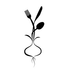 logo for a cafe restaurant or menu stylized vector image