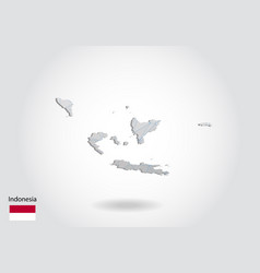 Map indonesia with trendy triangles design vector