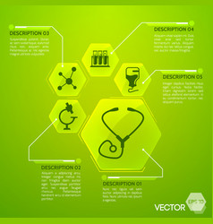 medicine and health green poster vector image