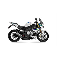 motorcycle side view vector image