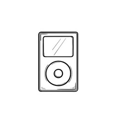 mp3 player hand drawn outline doodle icon vector image