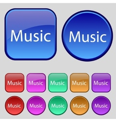 music sign icon Karaoke symbol Set of colored vector image