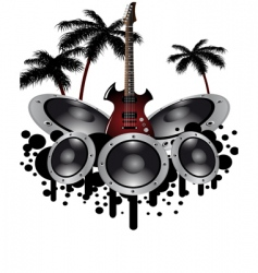 musical grunge background vector image vector image