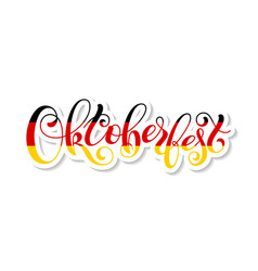 oktoberfest lettering template for a business vector image
