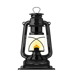 Old kerosene lamp eps10 vector image