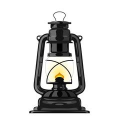 Old kerosene lamp eps10 vector