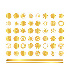 oriental gold pattern vector image